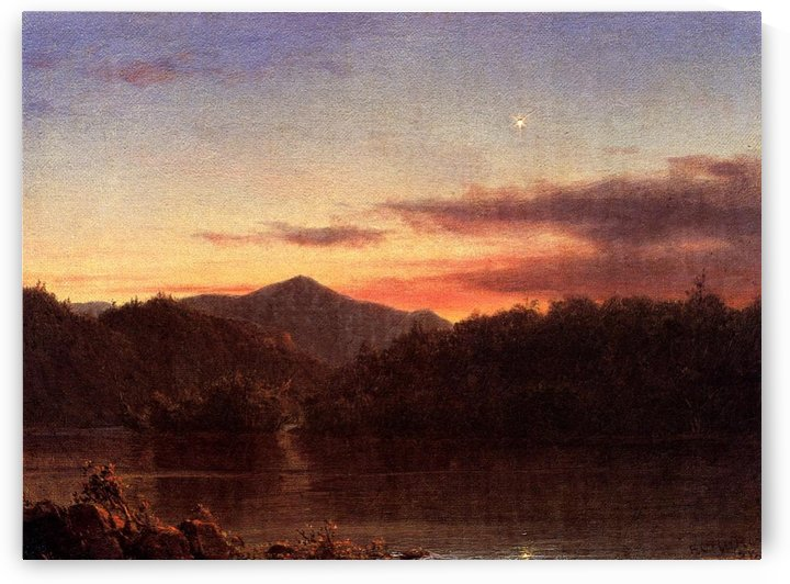 The Evening Star 1859 by Frederic Edwin Church