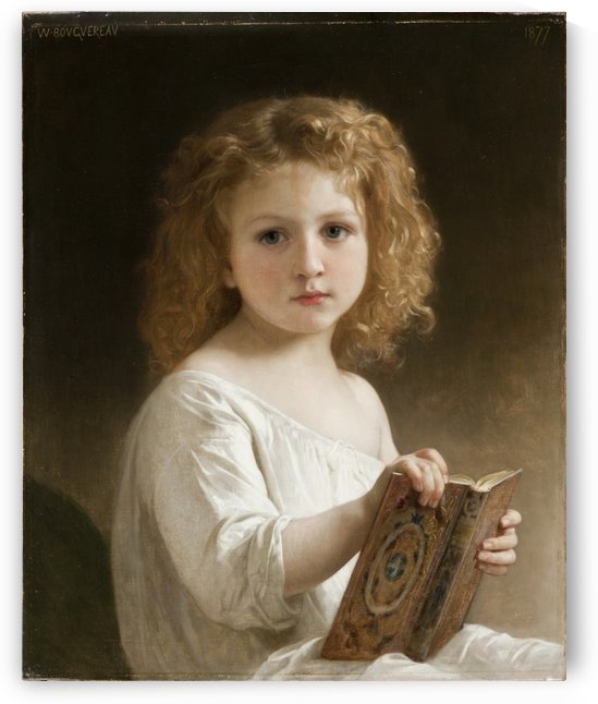 The story book 1877 by William-Adolphe Bouguereau