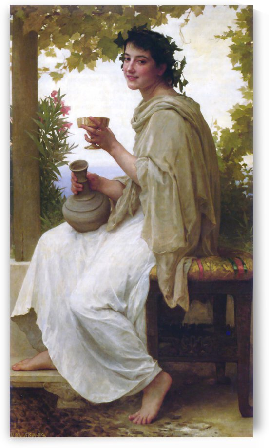 Bacchante by William-Adolphe Bouguereau