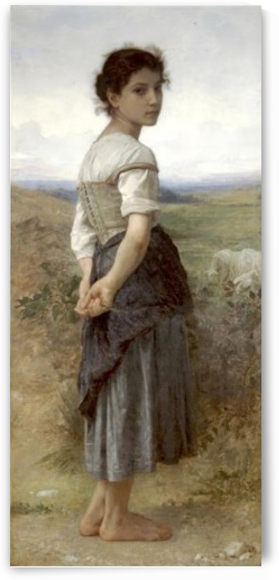 The young shepardess by William-Adolphe Bouguereau