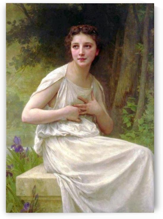 Reflextion by William-Adolphe Bouguereau