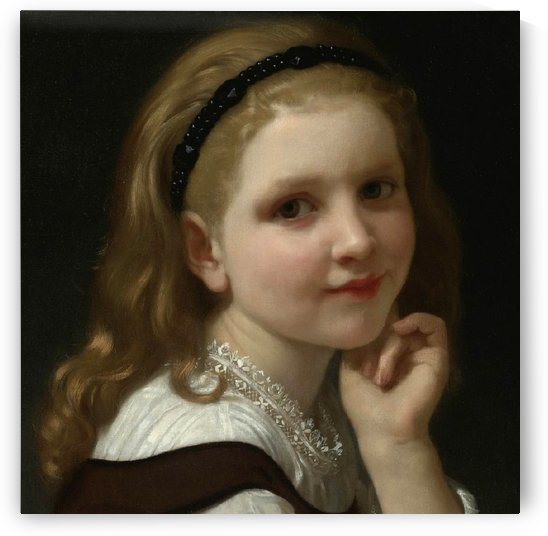 Portrait of a youg girl with a black headband by William-Adolphe Bouguereau