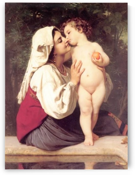 The kiss by William-Adolphe Bouguereau