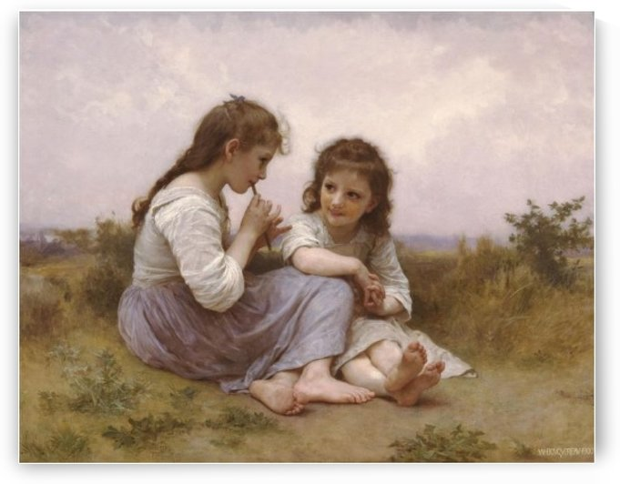 A childhood idol by William-Adolphe Bouguereau