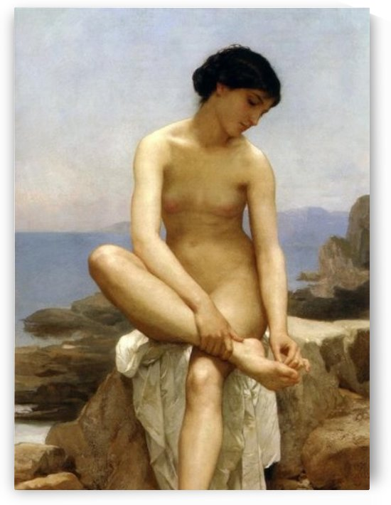 The bather by William-Adolphe Bouguereau