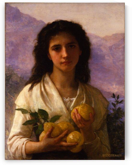 Girl holding lemons by William-Adolphe Bouguereau