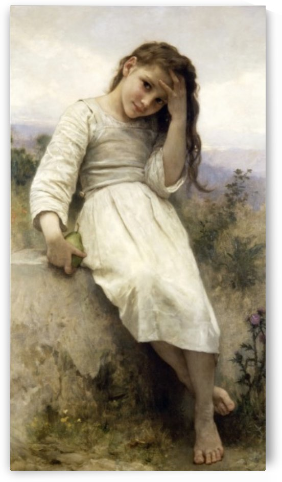 A young girl dreaming by William-Adolphe Bouguereau