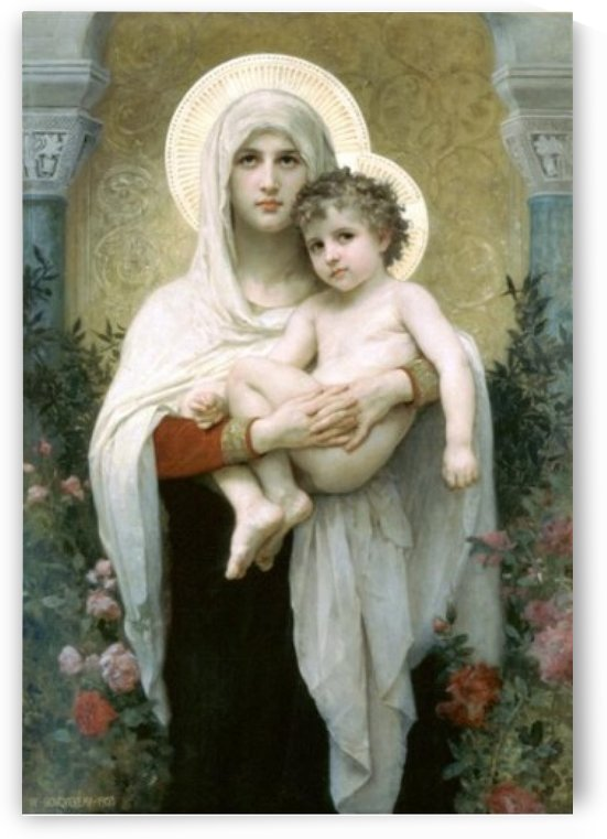The madonna of roses by William-Adolphe Bouguereau