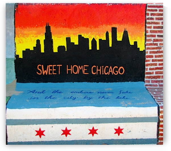 Chicago - Bench Art in Rogers Park by Vicki Polin