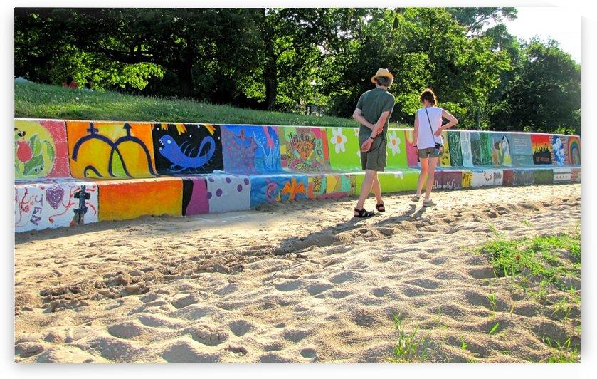 Bench Art in Rogers Park VP2 by Vicki Polin