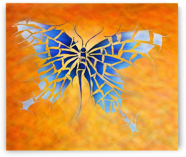 Tropenillo V1 - the blue butterfly by Cersatti Art
