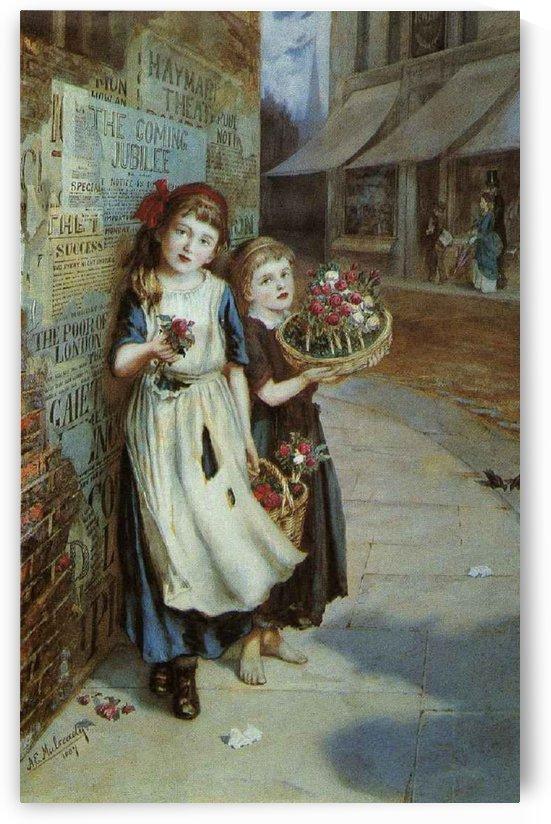 Little Flower Sellers by Augustus Edwin Mulready