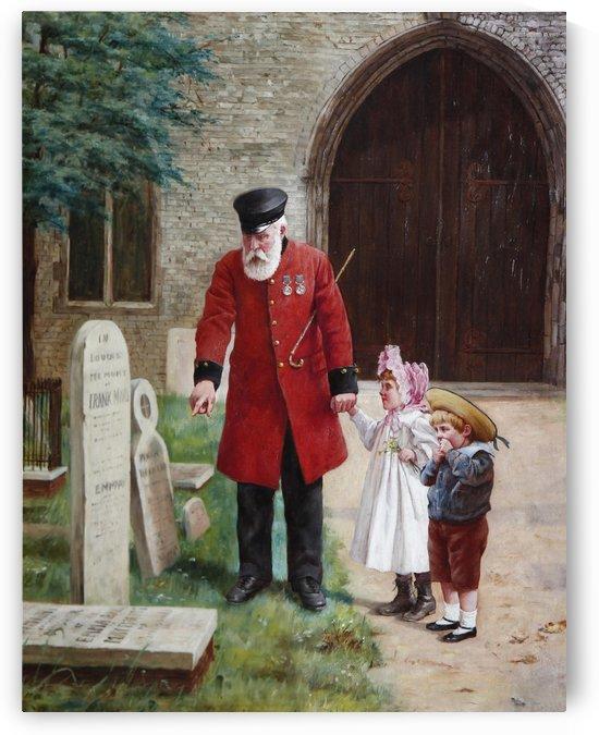 A walk with Grandpa by Augustus Edwin Mulready