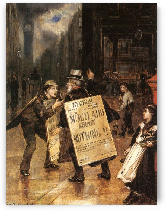 Much Ado about Nothing by Augustus Edwin Mulready