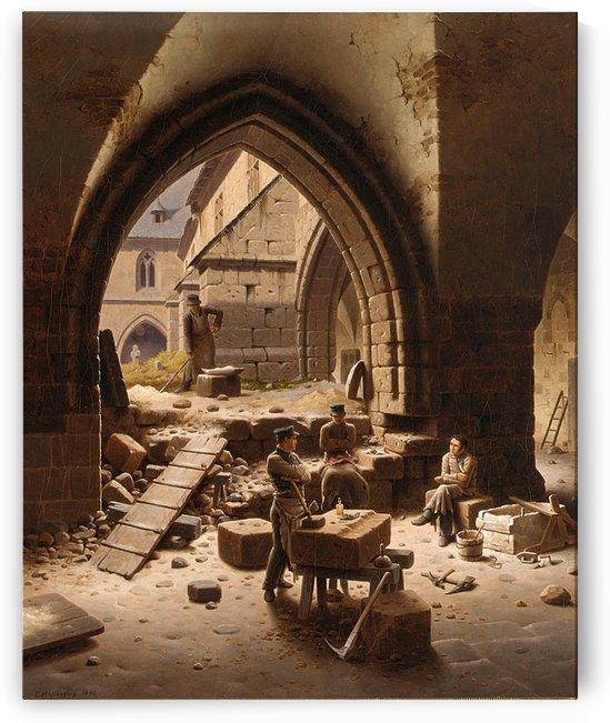 Partie des Kreuzgange der Liebfrauenkirche by Carl Hasenpflug