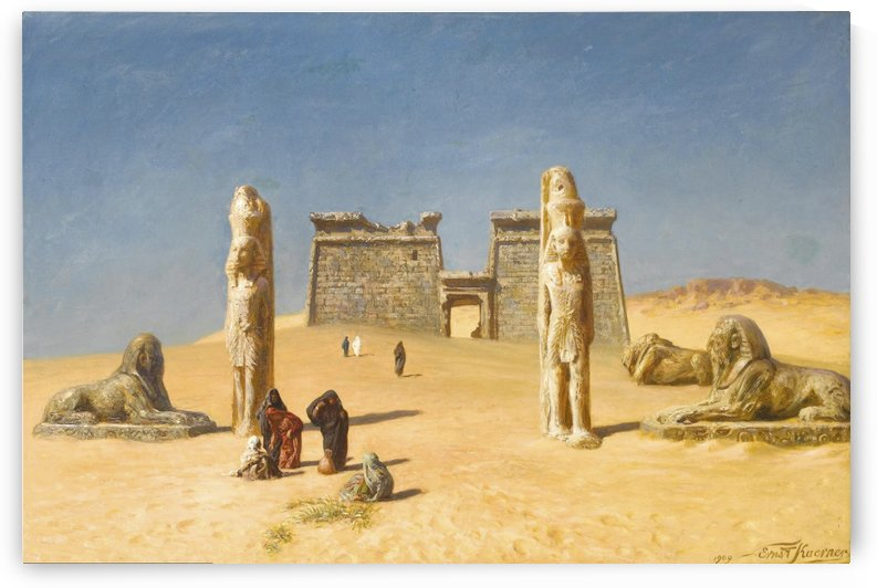 The Temple of Wadi es-Sebua by Ernst Karl Eugen Koerner