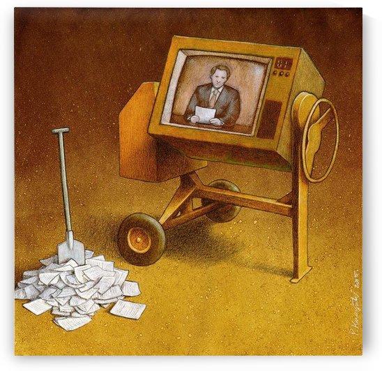 concrete mixer ( propaganda ) by Pawel Kuczynski