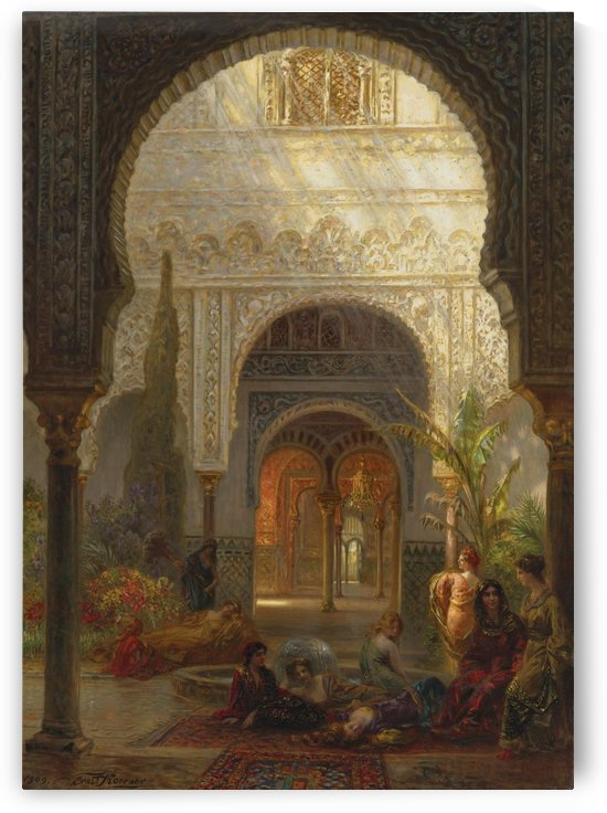 An Oriental hall by Ernst Karl Eugen Koerner
