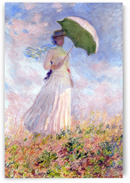 Nainen ja paivanvarjo by Monet by Monet