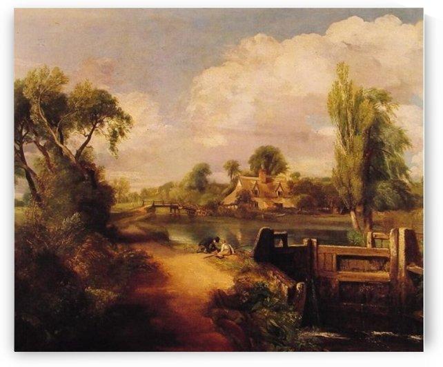 Boys fishing by John Constable
