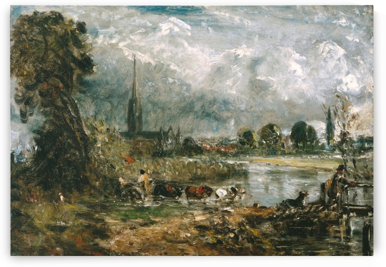 Salisbury Cathedral from the Meadows by John Constable