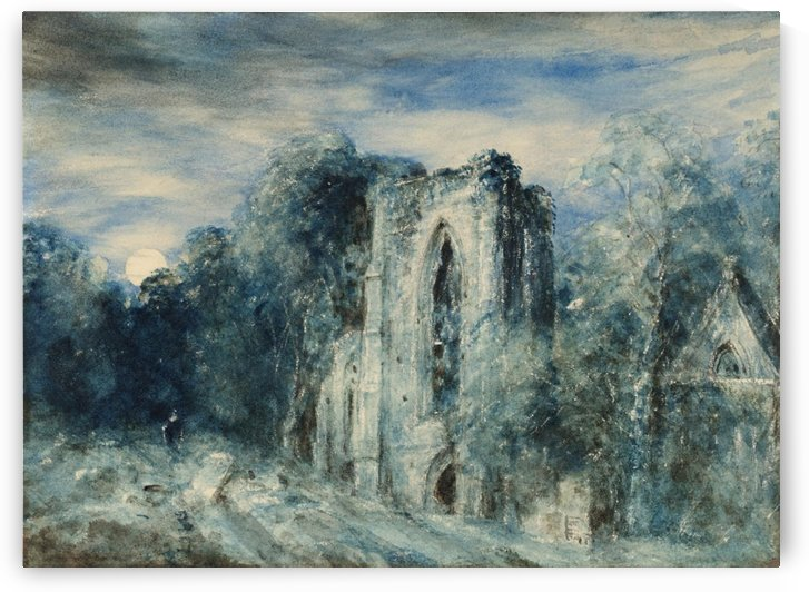 Netley Abbey by Moonlight by John Constable