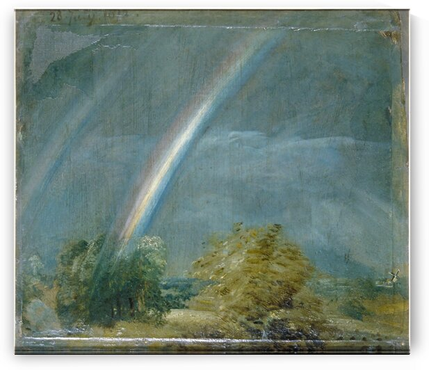 Landscape and Double Rainbow by John Constable