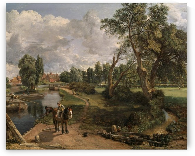 Scene on a Navigable River by John Constable