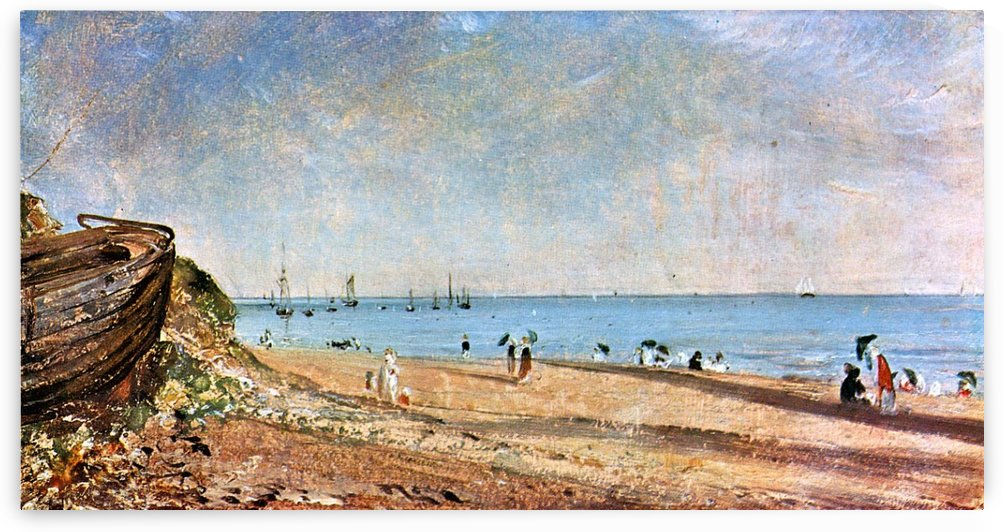 People on the Brighton Beach by John Constable