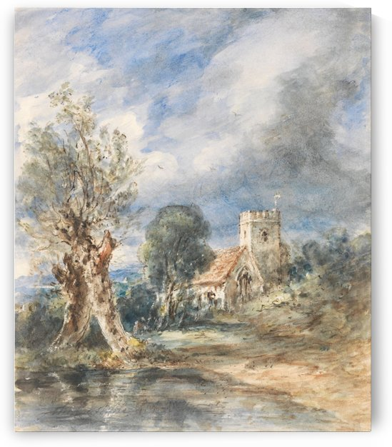 Stoke Poges Church by John Constable
