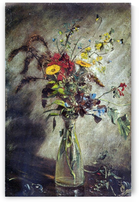 Still Nature with flowers by John Constable