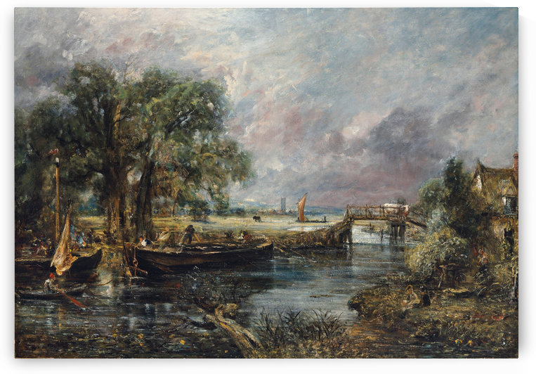 View on the River Stour by John Constable