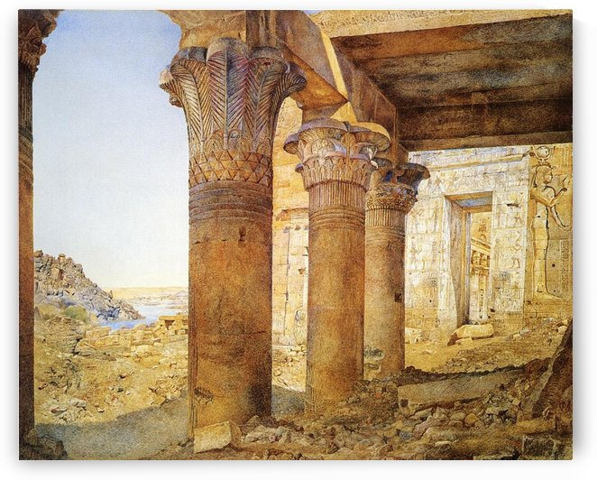 Temple philae outer by Henry Roderick Newman