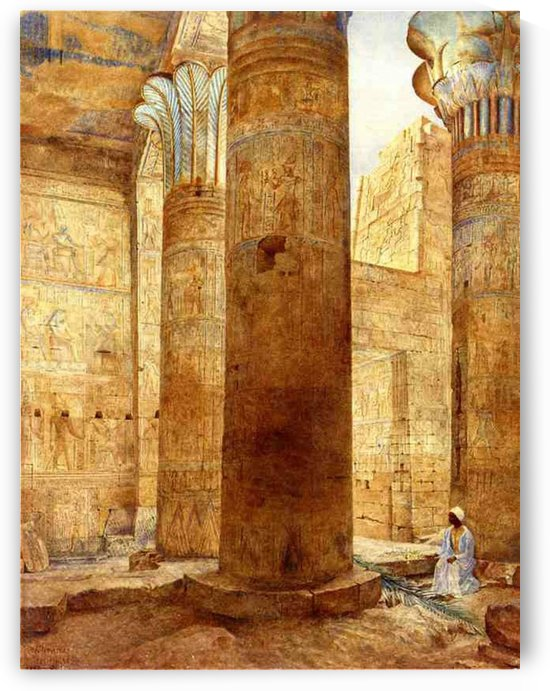 Inside a temple by Henry Roderick Newman