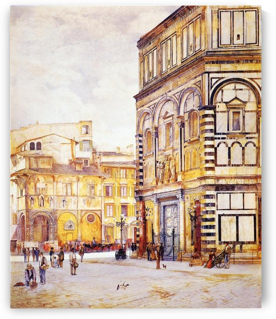 The Baptistery of San Giovanni 1881 by Henry Roderick Newman