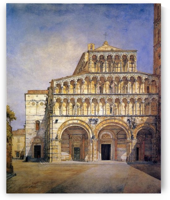 The Facade of the Duomo at Lucca by Henry Roderick Newman