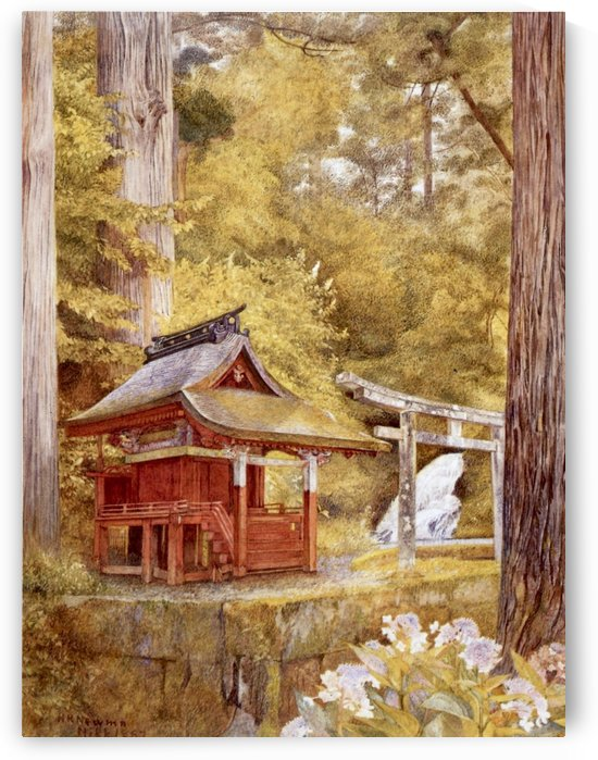 Japanese Pagoda In The Woods by Henry Roderick Newman