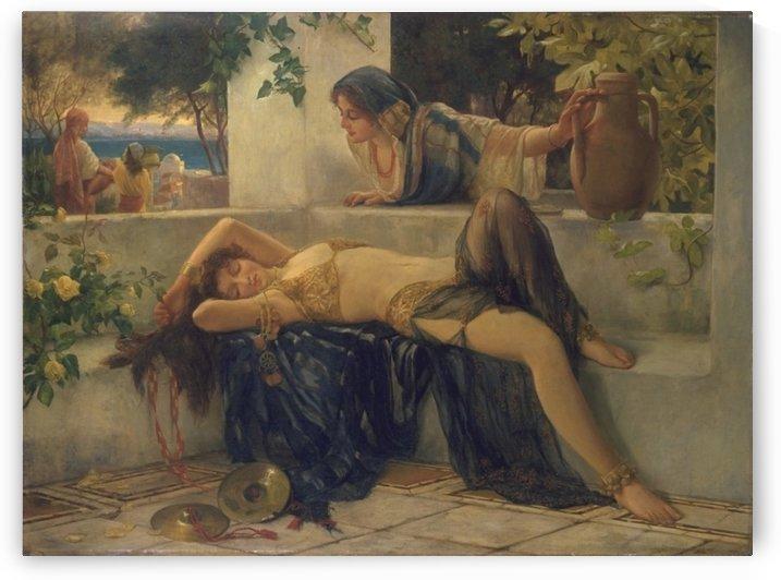 Oriental women resting by Delapoer Downing