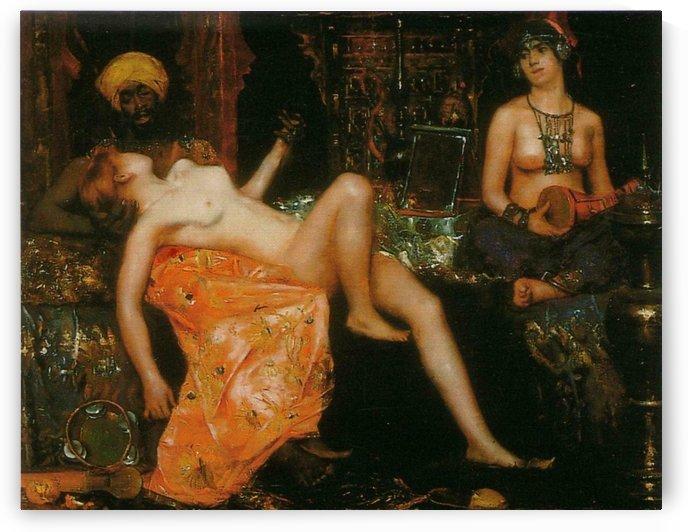 Oriental women in the harem by Delapoer Downing