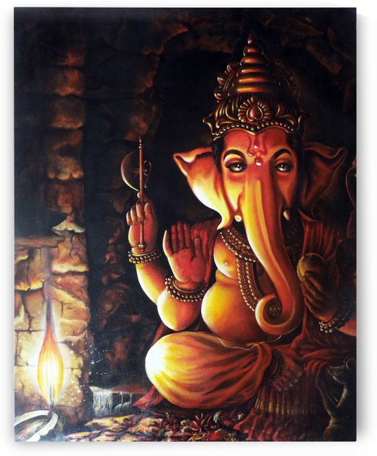 PORTRAIT OF LORD GANESHA by ASP Designs