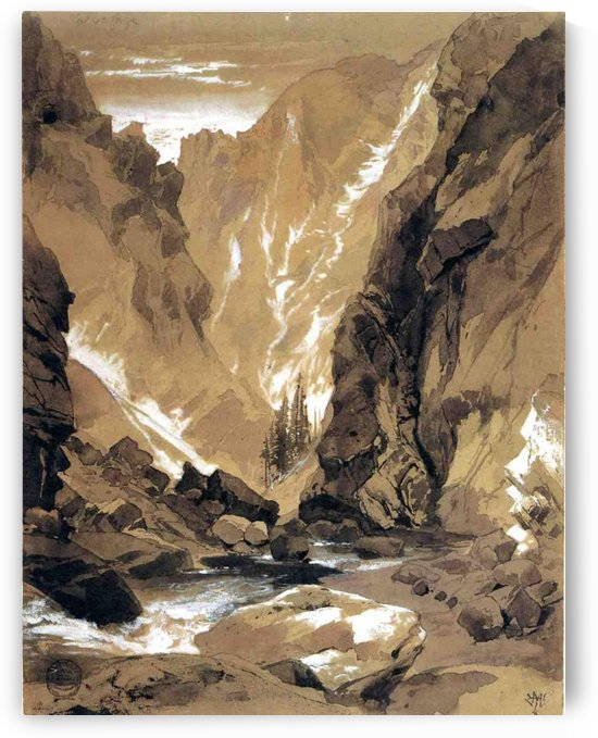 1881 Toltec Gorge, Colorado by Thomas Moran