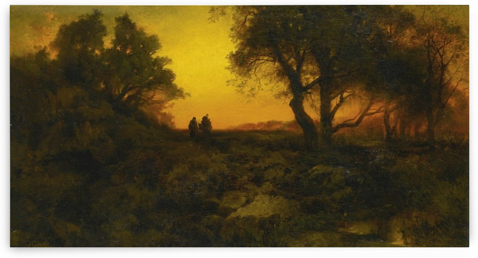Twilight Landscape by Thomas Moran