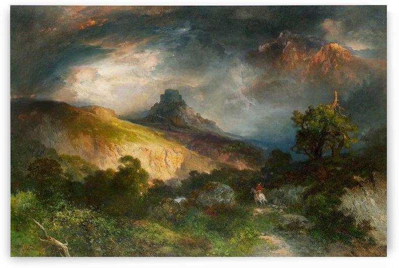 Feudal castle by Thomas Moran