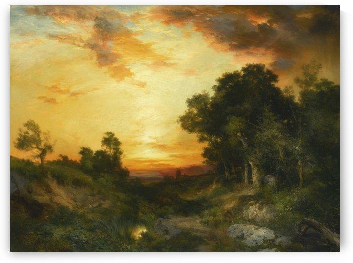 Sunset, Amagansett by Thomas Moran