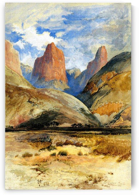 Colburn's Butte, South Utah by Thomas Moran