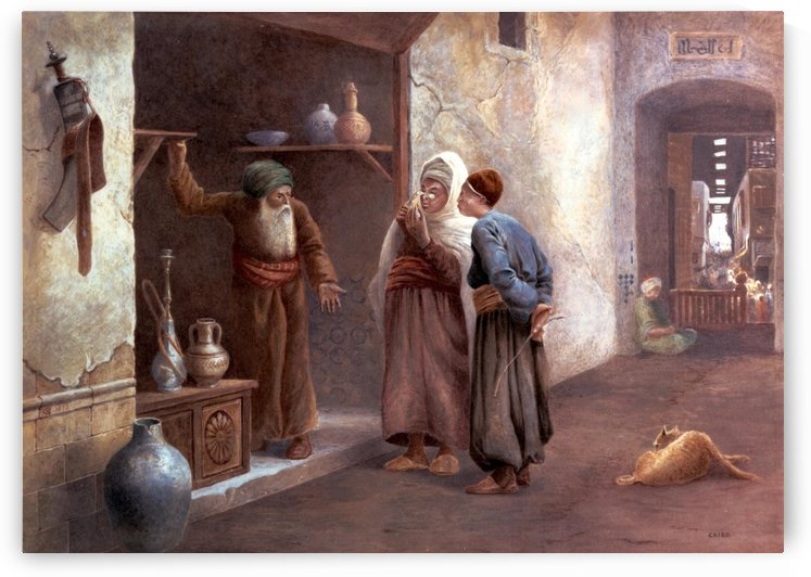 Arab traders in Cairo by Charles Robertson