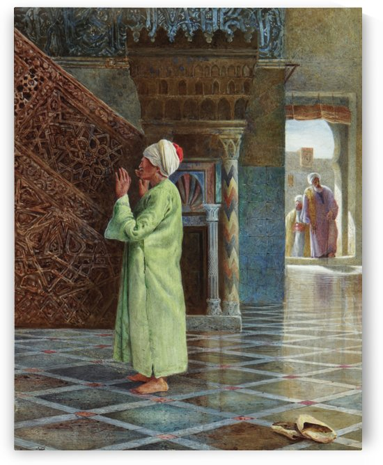 At prayer in the mosque by Charles Robertson