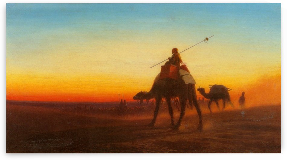 Caravanne au Couche-Sol by Charles-Theodore Frere