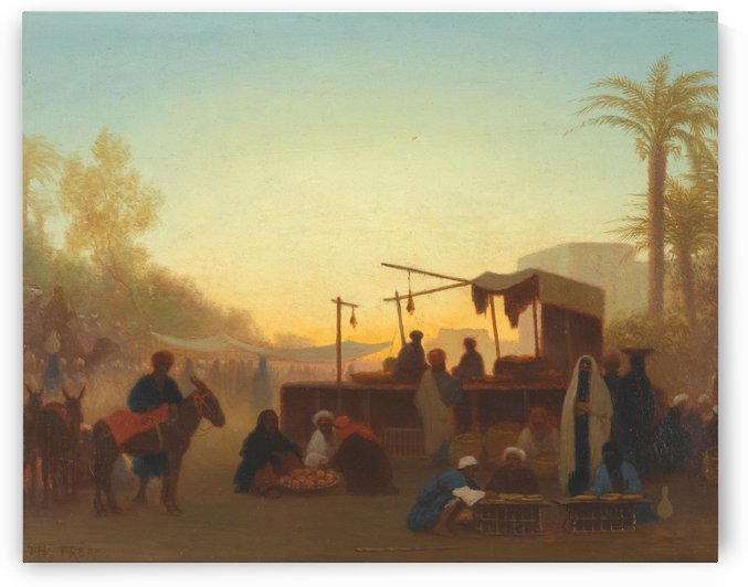 Marche au Caire by Charles-Theodore Frere