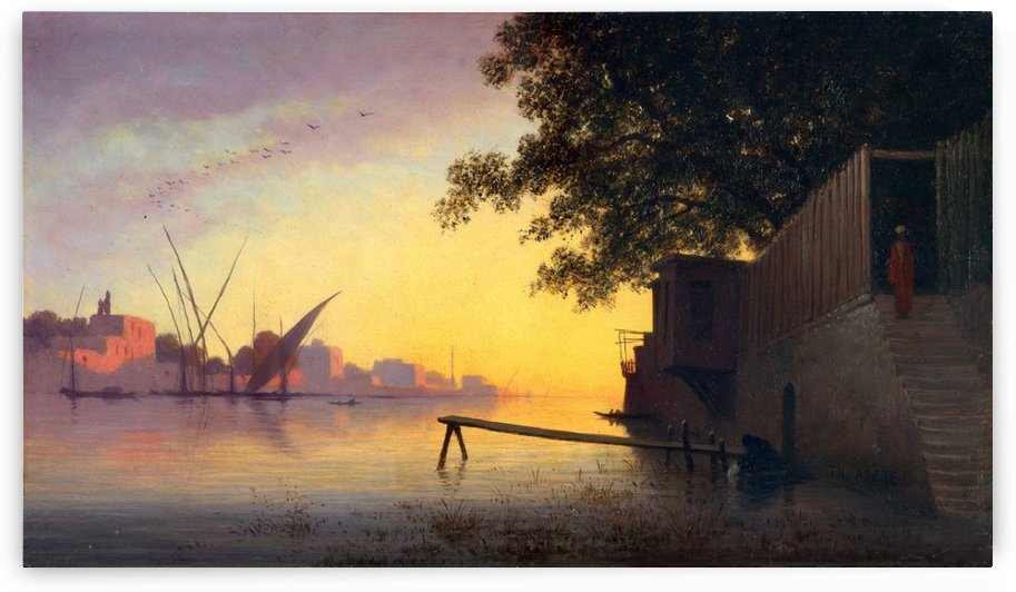 Evening on the Nile by Charles-Theodore Frere